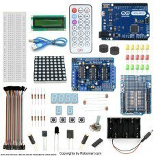 Leonardo R3 L293d Motor Drive Shield Starter Kit with Basic Arduino Project