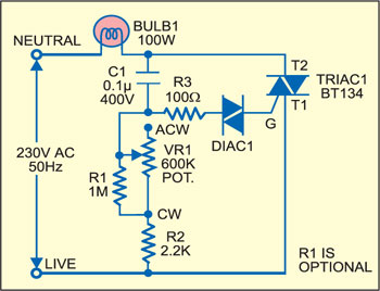 Light Dimmer that Doubles as Voltmeter