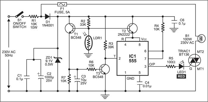 Electronic Street Light Switch