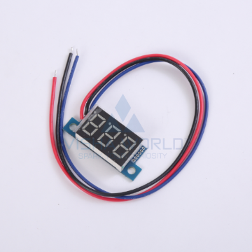 3 Digit Mini LED Current Panel Meter - 0 to 4.99A DC Open type
