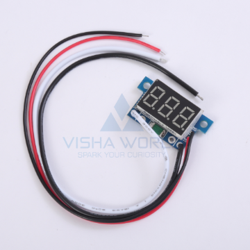 3 Digit Mini LED Current Panel Meter - 0 to 1A DC Open type