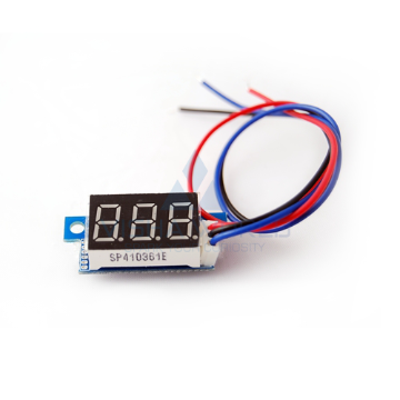 3 Digit Mini LED Voltage Panel Meter - 0 to 99.9V DC Open type