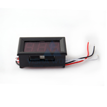 3 Digit LED Voltage Panel Meter - 0 to 99.9V DC