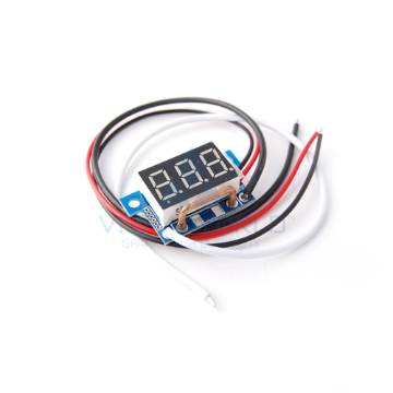 3 Digit Mini LED Current Panel Meter - 0 to 9.99A DC Open type