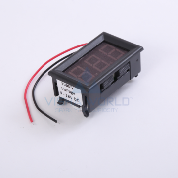 3 Digit LED Voltage Panel Meter - 2 Wire - 5 to 120V DC