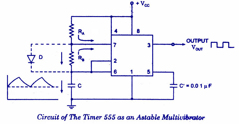555-astable-multivibrator