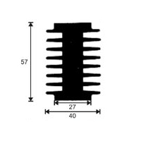 HeatSink Type PI13 - 80 mm [K3] Power Diodes / SCR-Heatsinks