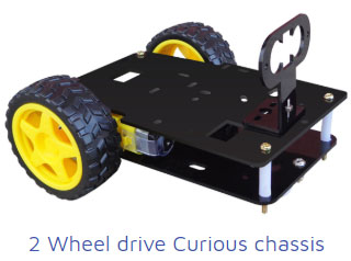 2wheel drive curious chassis Project Kit