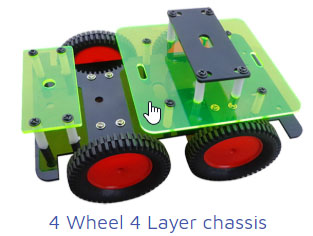 4-wheel 4 layer chasis Project Kit