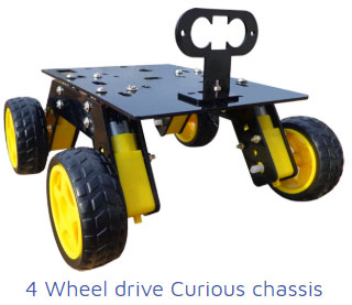 4 wheel drive curious chassis Project Kit