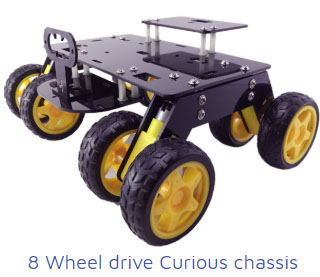 8 wheel drive curious chassis Project Kit