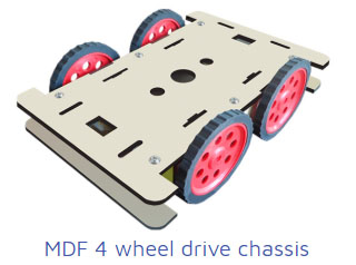 mdf 4wheel drive chasis Project Kit