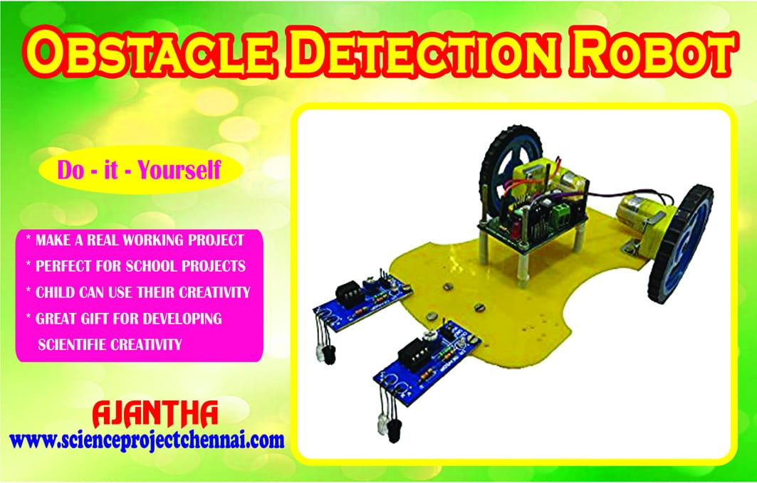 obstacle detection robot Project Kit