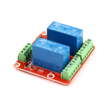 2 x DC 5V DPDT Power High Level Triggering Relay Module