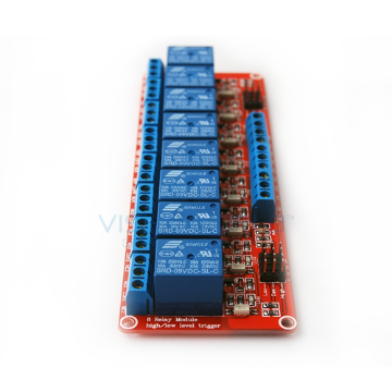 8 x DC 9V Opto Isolated High/Low Level Triggering Relay Module