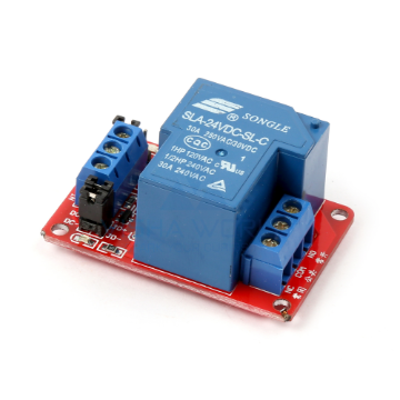 1 x DC 12V - 30A Opto Isolated High/Low Level Triggering Relay Module