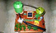 Solar irrigation with garden light – new model